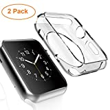 Apple Watch Case, [2pack] Wolait 38mm Clear Soft TPU Frame...