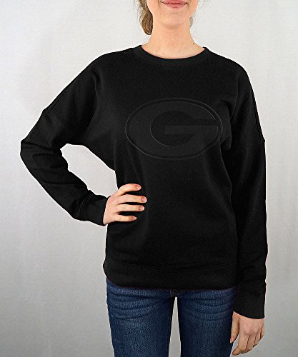 Georgia Bulldogs Women's Crewneck Sweatshirt Black - S