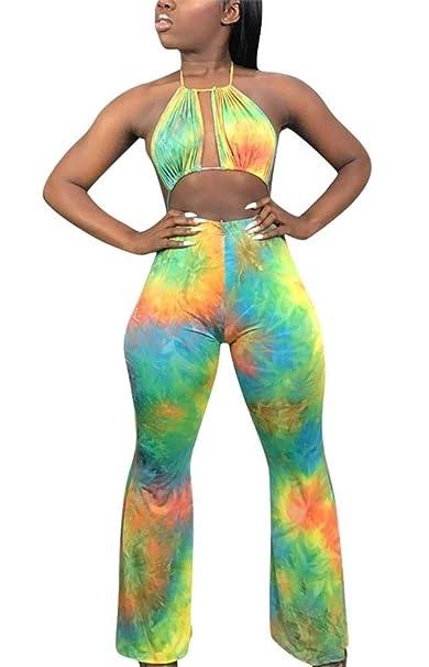 Amazon.com: Conjunto de pantalones para mujer, sin mangas ...