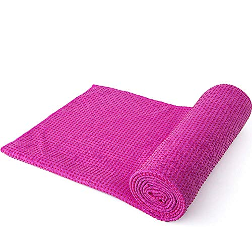 Thicken Yoga Towel, Microfiber Sweat Absorbent & Quick Dry Mat Towel - Ideal for Hot Yoga, Pilates, Machine wash, 18363cm