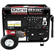 Durostar DS10000E-CA 16 HP CARB Compliant Gasoline Powered Electric Start Portable Generator, 10000-watt, CARB...