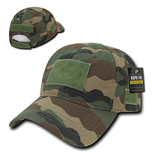 Soft Crown Tactical Operator Cotton Cap with Loop Patch - (Woodland Cotton Cap)