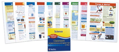 NewPath Learning 10 Piece Mastering Middle School Physical Science Visual Learning Guides Set, Grade ()