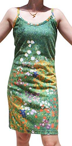 Raan Pah Muang RaanPahMuang Gustav Klimt Garden in Flower Spaghetti Strap Dress, Small