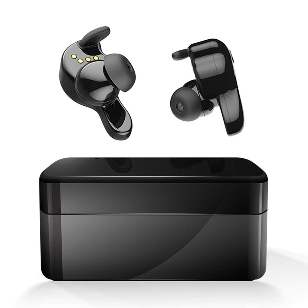 Wireless Earbuds, AMINY U-Winner Bluetooth 5.0 True Wireless Bluetooth Earbuds with Charging Case 20H Play time 3D Stereo Sound Wireless Headphones for iOS Android, Built-in Microphone