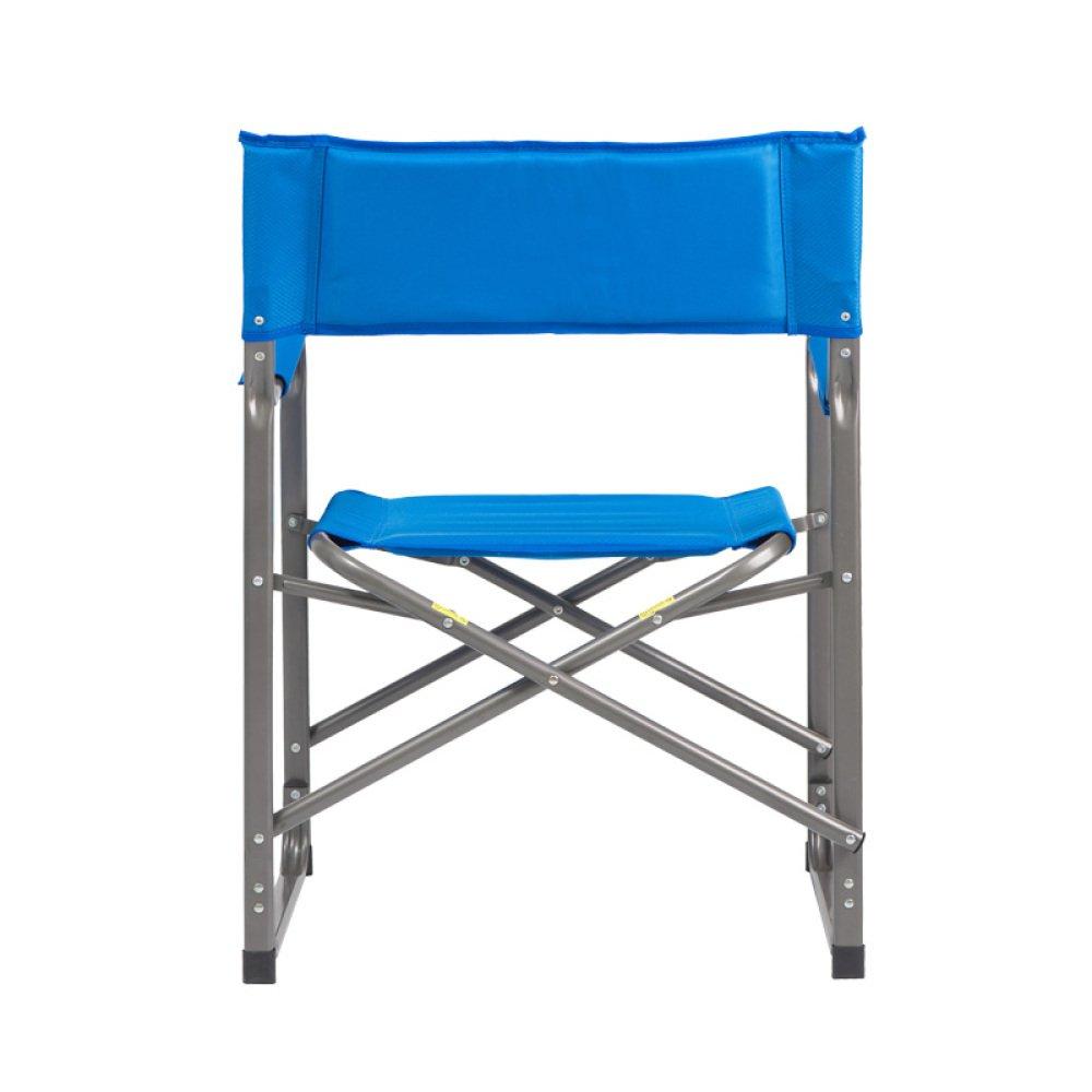 LDFN Tragbarer Campingstuhl Multifunktionaler Multifunktionsstuhl Strandstuhl Oxford-Gewebe Und Eisen-Armlehnensessel,Blau-624384cm