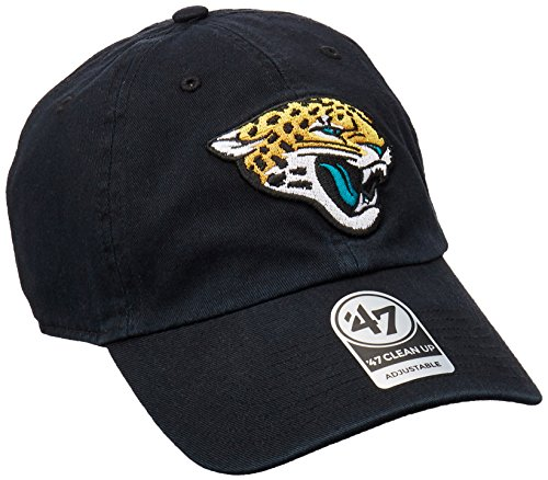 NFL Jacksonville Jaguars Clean Up Adjustable Hat, Black, One Size Fits All Fits All