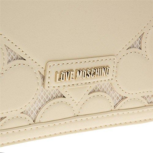 Love Moschino Chain Heart Womens Handbag Natural by Love Moschino (Image #3)