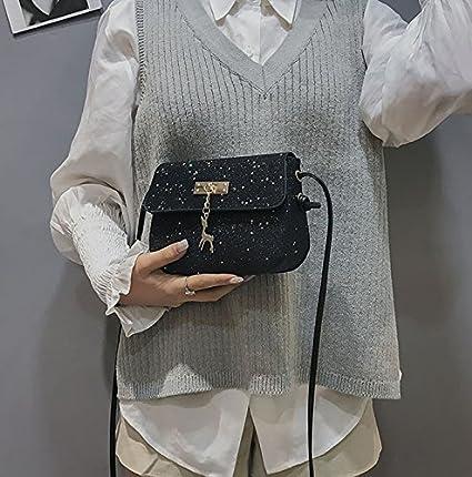 Gabrine Womens Shoulder Crossbody Bag Handbag Glitter Sequin Little Stars