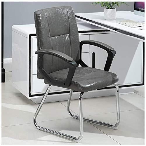 DBL Kontorsstol datorstol student personal möte stol konstläder vadderad hög rygg stol skrivbordsstolar (storlek: Brun)