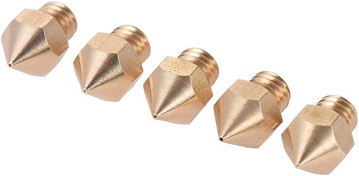 Aibecy 5 piezas Impresora 3D Boquilla Extrusora Cabezal de ...