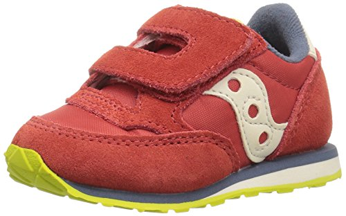 Saucony Jazz Hook & Loop Sneaker (Toddler/Little Kid), Red/Blue/Lime, 8 M US Toddler