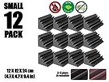 Arrowzoom New 12 Pack of 4.7 in X 4.7 in X 9.4 in Black Soundproofing Insulation Bass Trap Acoustic Wall Foam Padding Studio Foam Tiles AZ1133 (BLACK)
