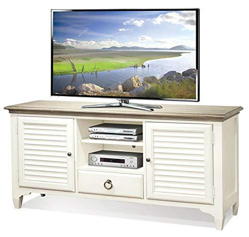 Riverside Tv Console - Louver TV Console in Paperwhite Finish