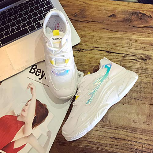 Running Sports Gym Shoes and Women's Vansney Mesh Running Sneakers for Casual Road Yellow Trainers 7qzqwHZ