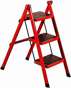 Escalera - Taburete, Escalera Plegable Multipropósito Hogar Portátil, Plancha De Aislamiento Escalera (Color : Red): Amazon.es: Bricolaje y herramientas