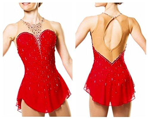 De Por Leotardo Profesional Costura Las Gzhgf Hecho A Sobre Malla Hielo Patinaje Red Fabricante Encargo Competencia Rhinestone Mujeres Femenino Mano Vestido 5wzSxaUq