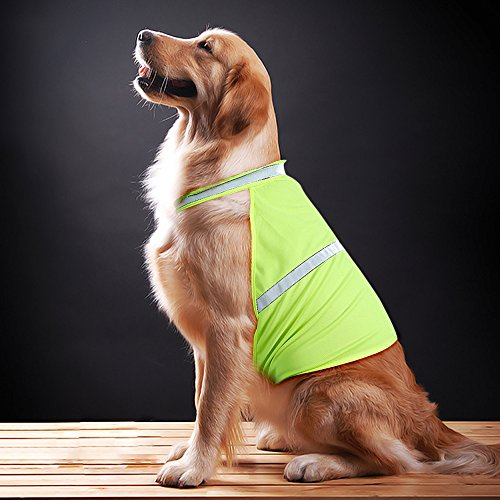 ClanX-Reflective-Dog-Vest-High-Visible-Lightweight-Coat-to-Keep-Dogs-Comfortable-for-Walking-Jogging-Safe-from-Traffic-Hunting-Training-Accidents-Adjustable-Sizes-to-Fit-S-M-L
