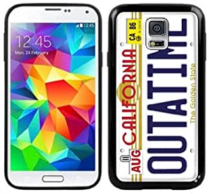 Outatime License Plate Back To The Future Handmade Samsung Galaxy S5 Black Case