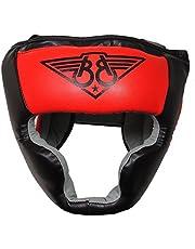 BOOM Prime Red Boxing Headgear Pełna twarz, uszy, policzki Ochrona hełmu - Idealny do treningu MMA, Muay Thai, sparingu, Kickboxingu, walki, Karate, BJJ, nakrycia głowy do sztuk walki (XL)