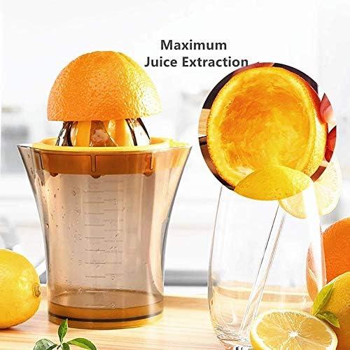 Bycws Exprimidor de limón, Naranjas Exprimidor de jugos cítricos, Accesorio para Vaso de Medida Incorporado, con Tapa (2PCS)