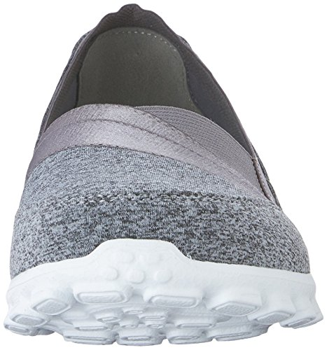 Flex EZ Femme Fermé Bout Gris Ballerines nbsp;Fascination Skechers 2 Grau Various 75qdwg7
