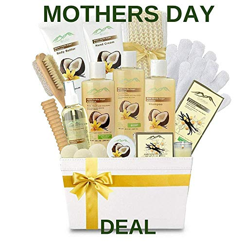 - Premium Deluxe Bath & Body Gift Basket. Ultimate Large Spa Basket! #1 Spa Gift Basket for Women Body Lotion Gift Set!
