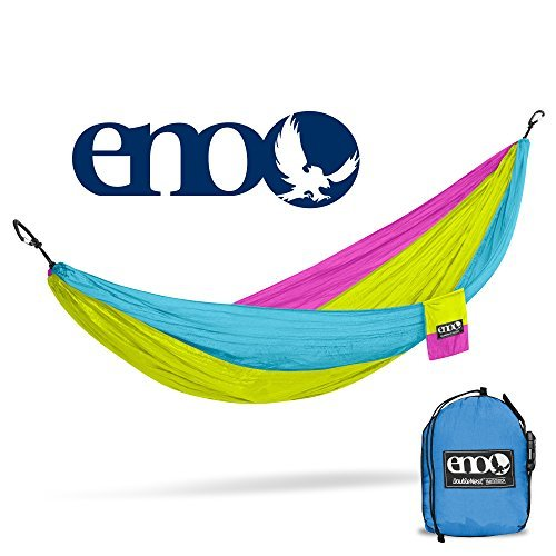 ENO - Eagles Nest Outfitters DoubleNest Hammock, Portable Hammock for Two, Retro-Tri Color (Sport Tri Color Bag)