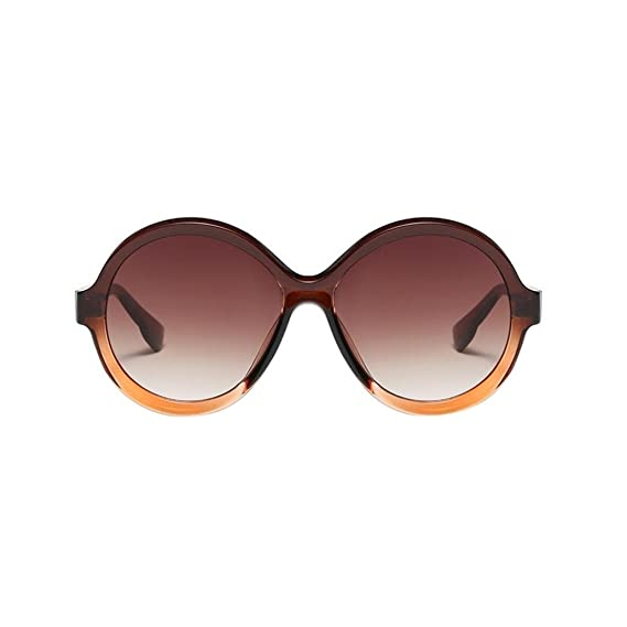 Keepwin Verano Nuevo Gafas De Sol Polarizadas Reflexivo Una Pieza Redondas Espejo Anteojos Para Hombre Mujer (A): Amazon.es: Ropa y accesorios