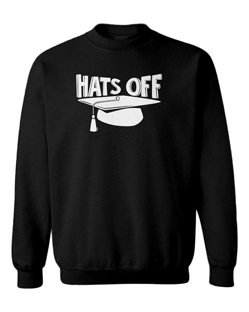 Graduation Cap /& Gown Youth Fleece Crewneck Sweater Hats Off
