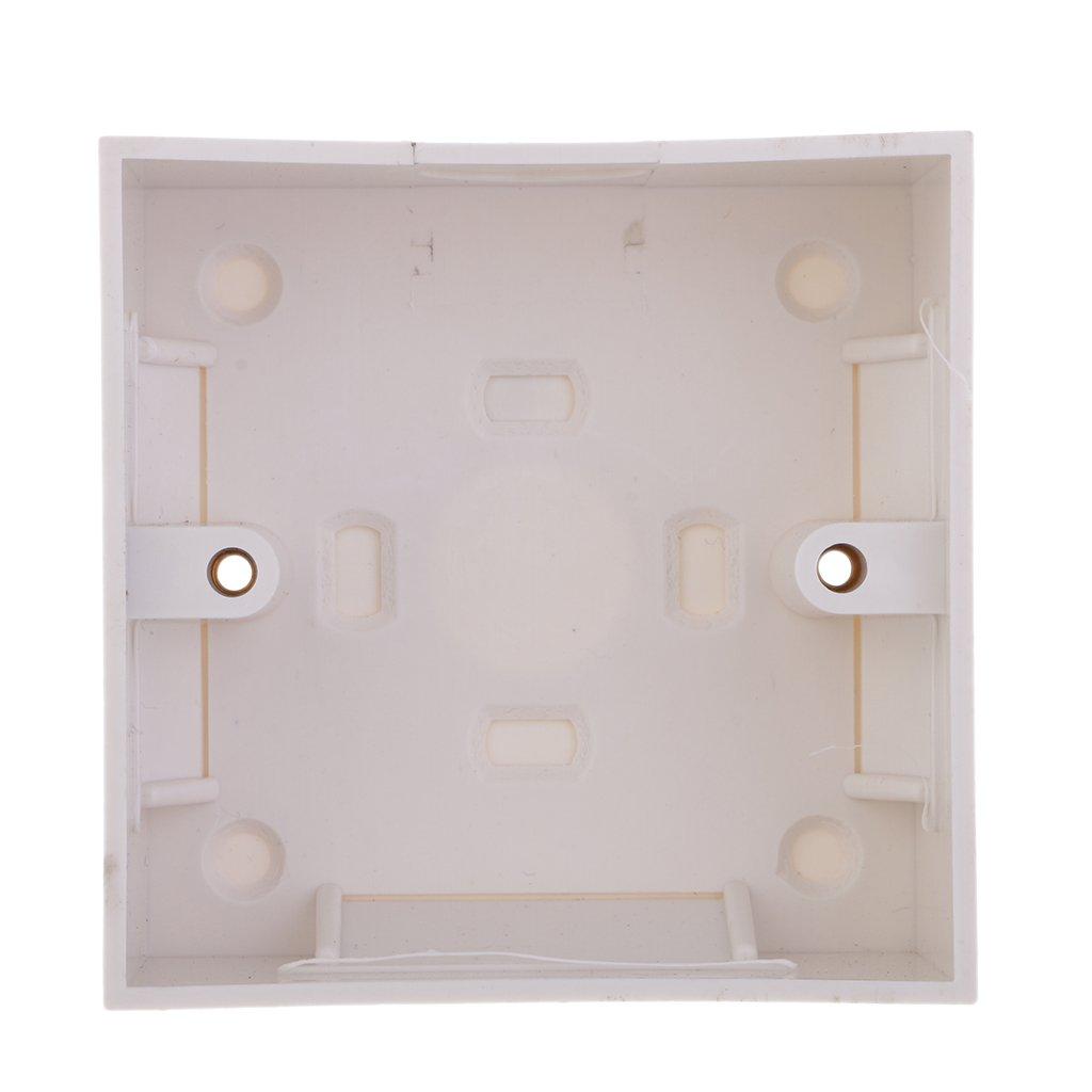 Dolity 86x86x35mm Scatola di Parete Interruttore Passthrough Cavo per Casa Ufficio
