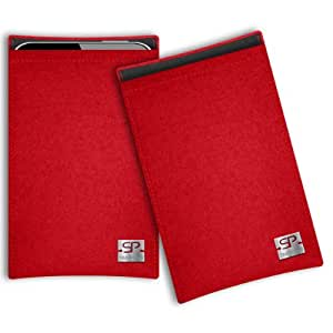 SIMON PIKE Cáscara Funda de móvil Boston 1 rojo Blackberry Passport Fieltro de lana