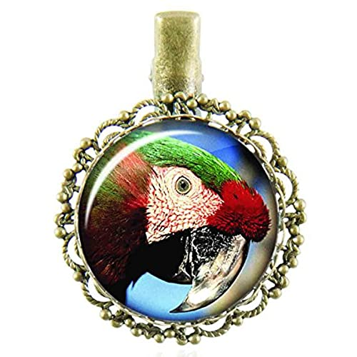 d4e1f04c50c 50%OFF Filigree hair clip with round glass cabochons protecting a design  with a parrot