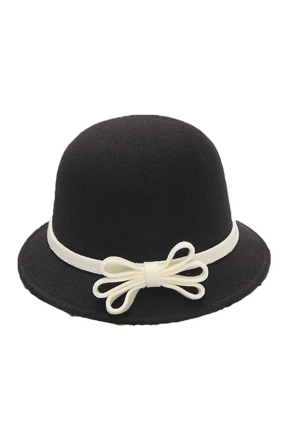1920s Accessories: Feather Boas, Cigarette Holders, Flasks Zonsaoja Cloche Round Hat for Women Beanie Flower Dress Church Elegant British  AT vintagedancer.com