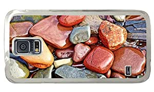 Hipster Samsung Galaxy S5 Case awesome Colored wet Stones PC Transparent for Samsung S5