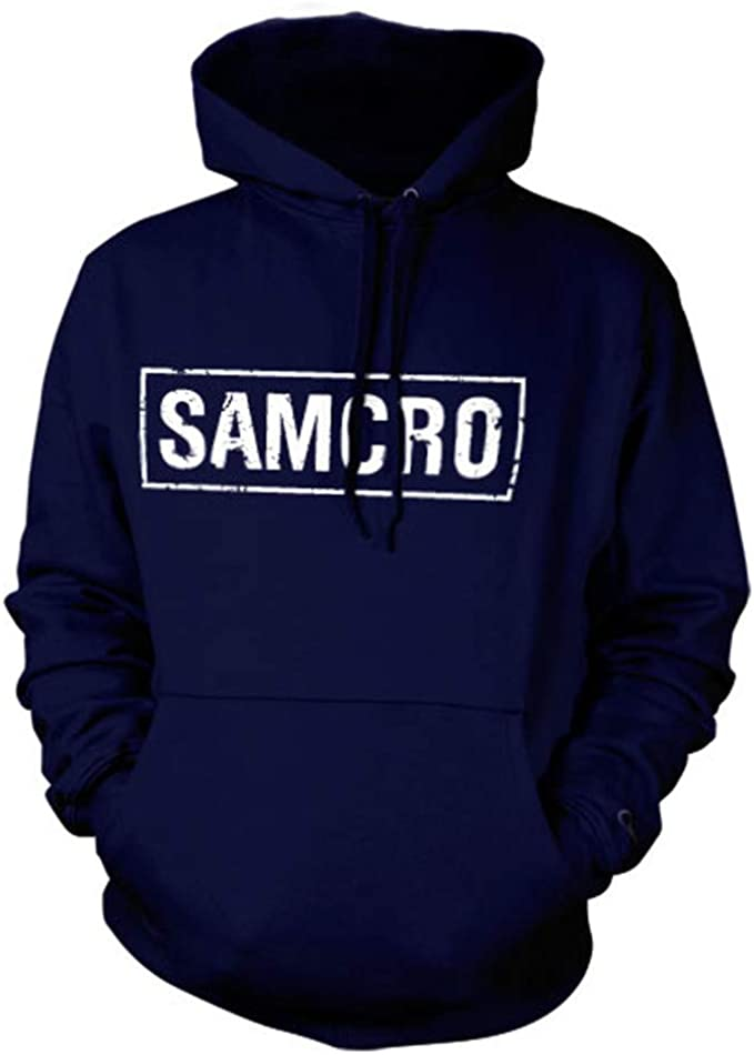 Hybris Sons of Anarchy-Samcro Distressed Hoodie Capucha para Hombre