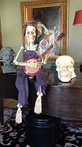 SKELETON PLAYING BANJO 39 IN - Hoedown Halloween Costumes
