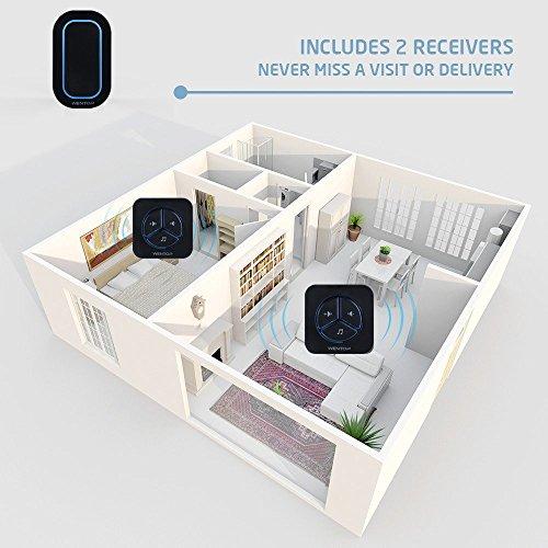 Wentop wireless doorbell kit digital programmable door for Kids room doorbell
