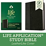 NLT Life Application Study Bible, Third Edition (LeatherLike, Black/Onyx) Tyndale NLT Bible with Updated Notes and Features, Full Text New Living Translation
