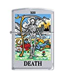 "Zippo ""Tarot Death Card-XIII"" Satin Chrome Lighter, 6425"