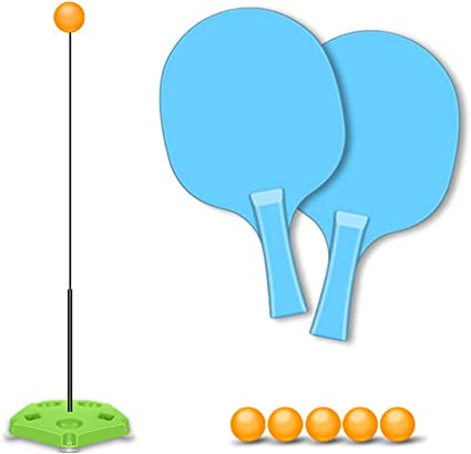 Table Tennis Training Aid Clamp Type Ping Pong Ball Trainer for Stroking