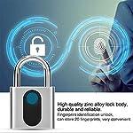 GOMOV-Portable-Impronte-Digitali-Intelligente-Lucchetto-Keyless-Impermeabile-Metallo-Fingerprint-Serrature-di-Ricarica-USB-Blocco-da-Viaggio-Adatto-A-Bici-Zaino-Bagagli-Palestra-Cabinet