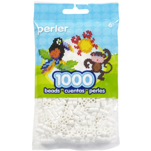 Perler Beads Fuse Beads for Crafts, 1000pcs, White -