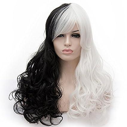 Amback ondulado pelucas de pelo rizado para mujer disfraz fiesta Cosplay peluca
