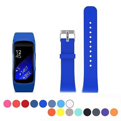 Correa de repuesto de reloj para Samsung Gear Fit 2 SM-R360. Suave correa de silicona Cyeeson para Smartwatch. Correa pulsera para Samsung Gear Fit 2 ...