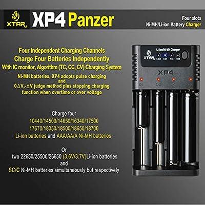 XTAR XP4 18650 14500 Intelligent Li-ion/Ni-MH Battery Charger
