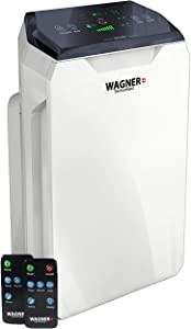 WAGNER Switzerland Air Purifier WA777 HEPA-13 Medical Grade Filter, i-Sense air Quality Monitor for 500 sq.ft. Rooms. Removes Mold, Odors, Smoke, Allergens, Germs, Pet Dander, etc. (White)