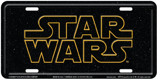 Chroma 002033 Star Wars Metal Tag License Plate