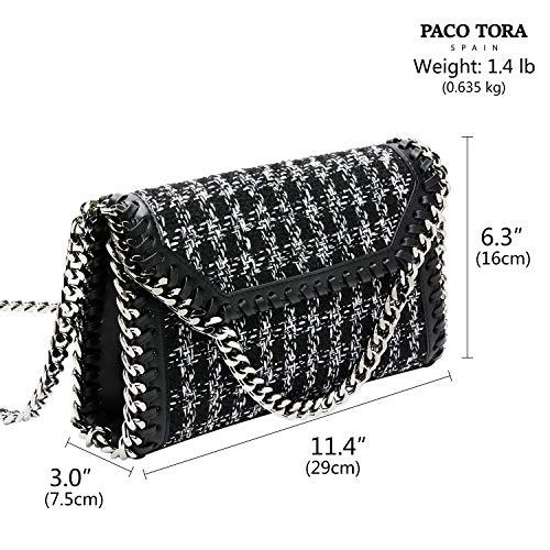Bandolera Mujer Crossbody Paco Moda Bolsos De Collection Tweed Fiesta Classic Bag Cuero Pu Tora FqE8E5
