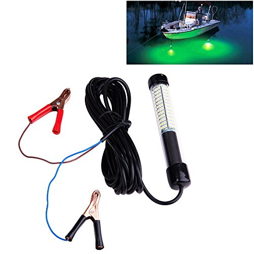 Lightingsky 12V 10.8W 180 LEDs 1080 Lumens LED Submersible Fishing Light Underwater Fish Finder Lamp...